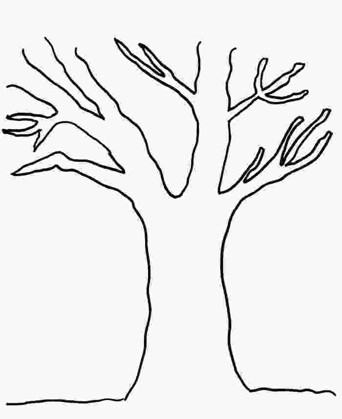 bare tree coloring pages bare tree template clipartsco