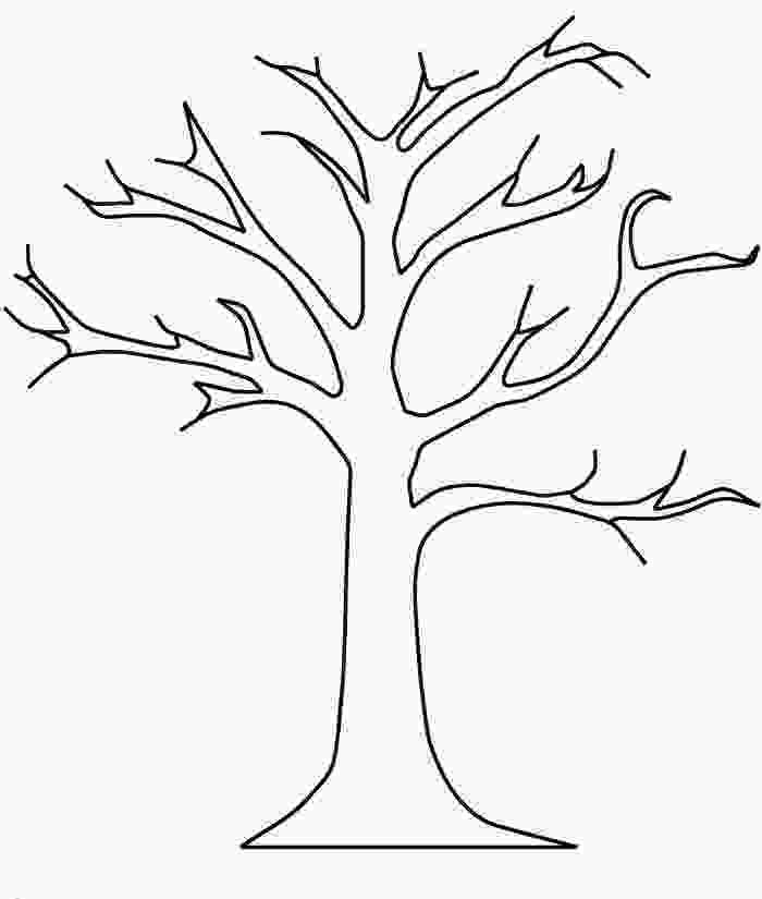 bare tree coloring pages tree with no leaves clipart clipground