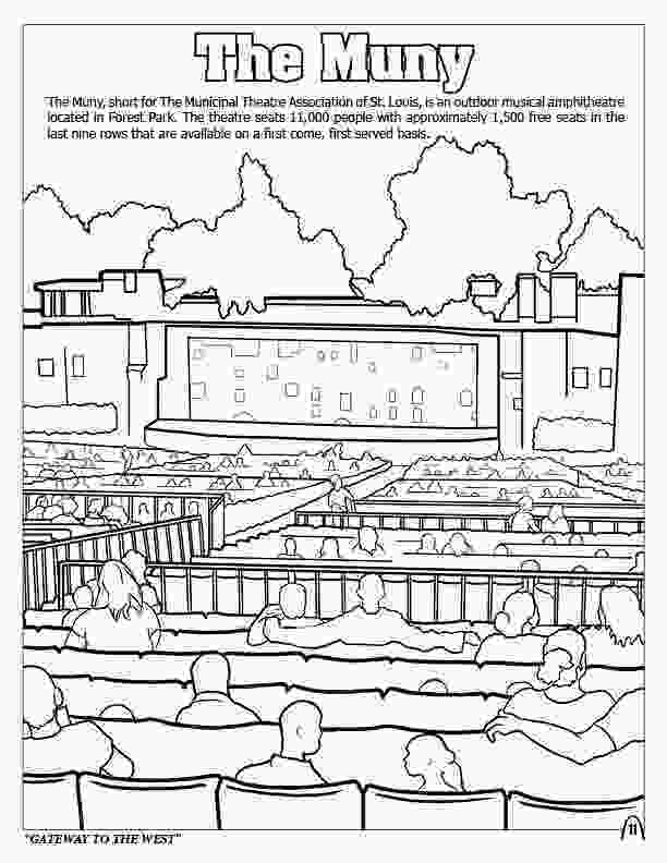big city green coloring pages coloring books st louis gateway to the west 1