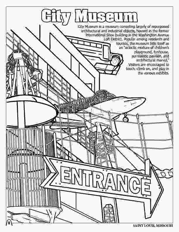 big city green coloring pages coloring books st louis gateway to the west