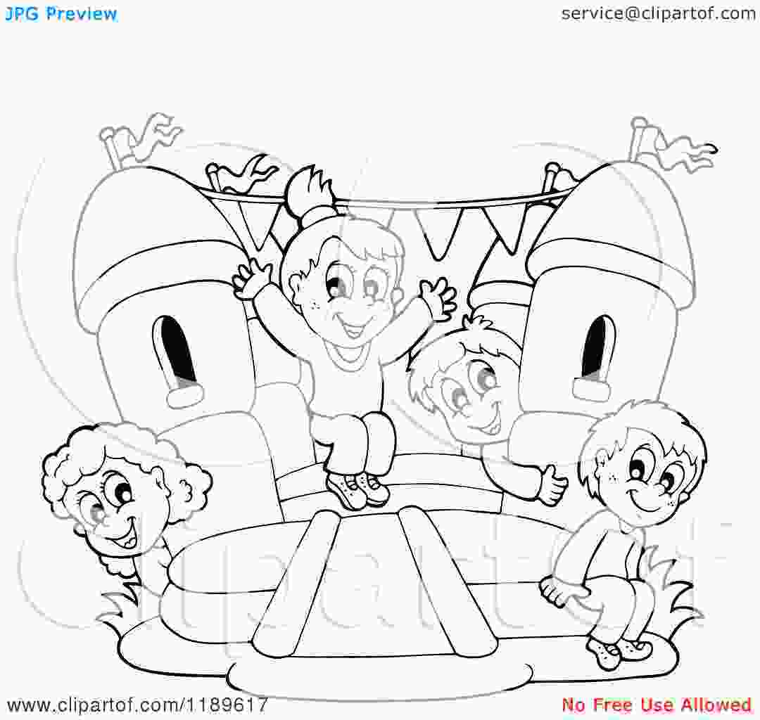 bouncy castle coloring pages bouncy house coloring pages