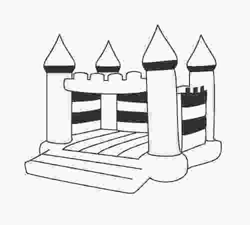 bouncy castle coloring pages design a gray scale flat icon illustration of a bouncy