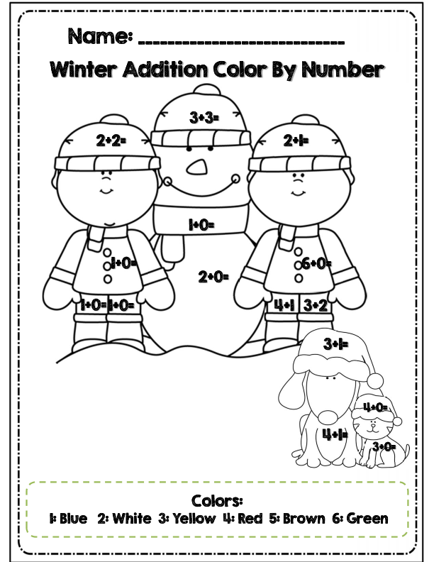 coloring sheets 1st grade first grade winter math amp ela packet common core aligned