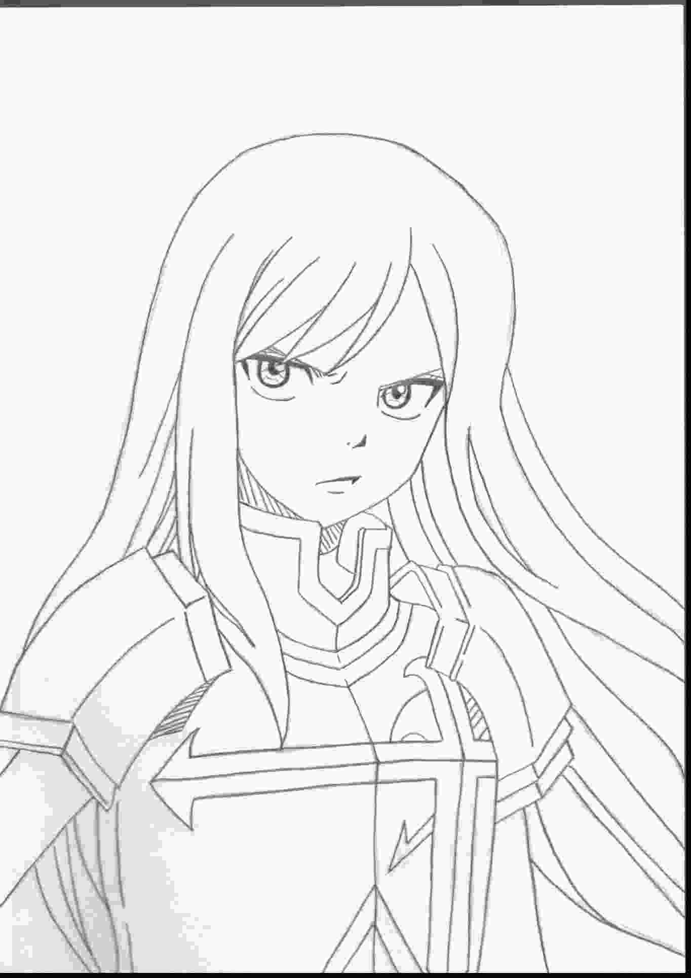 fairy tail colouring pages fairy tail erza coloring pages free free coloring books