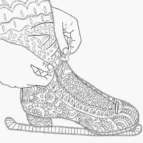 skating coloring pages 2 printable coloring pages zentangle figure skating