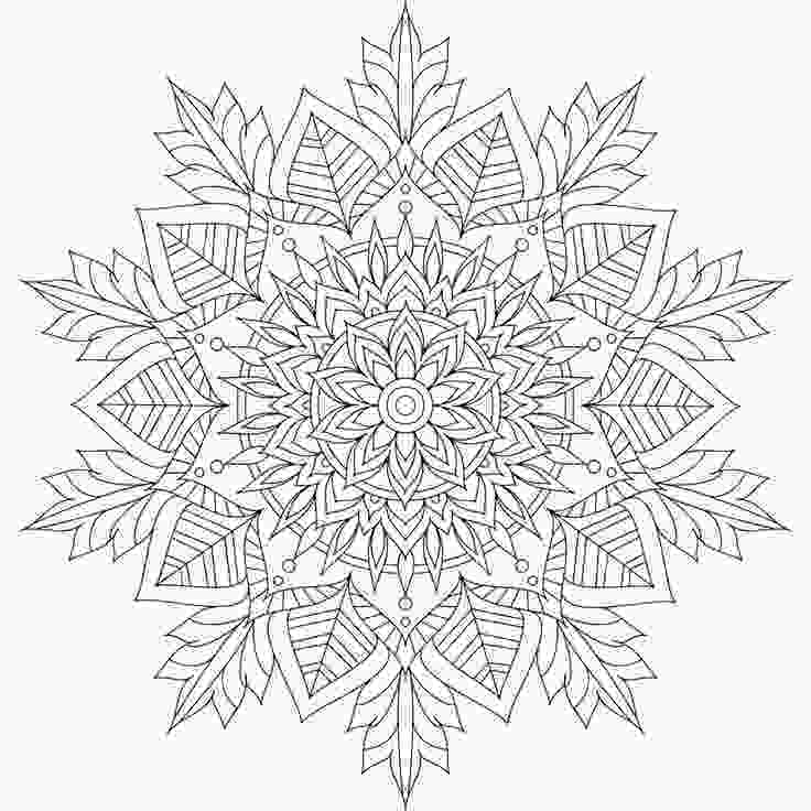 snowflake coloring pages for adults best 20 mandala coloring pages ideas on pinterest
