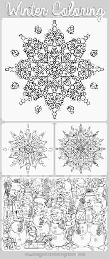 snowflake coloring pages for adults free printable winter coloring pages for adults moms and