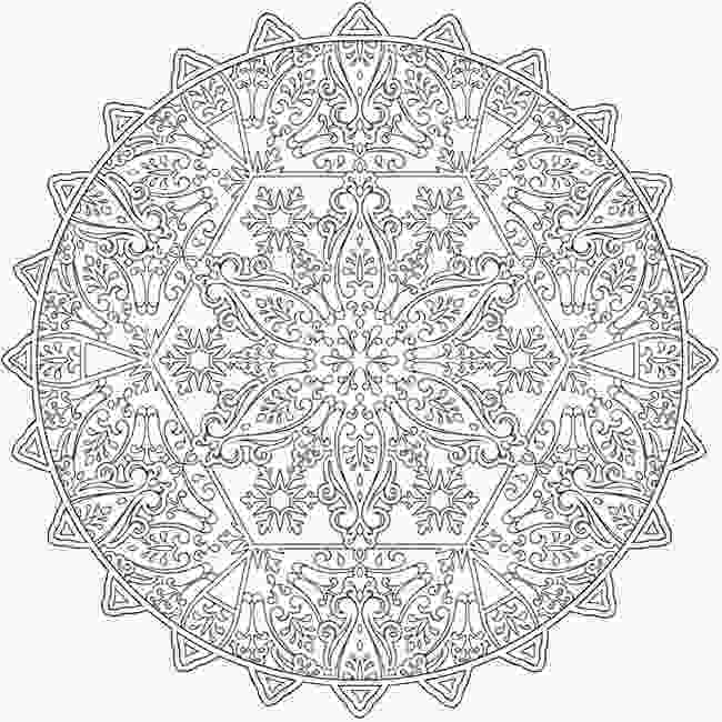 snowflake coloring pages for adults welcome to dover publications