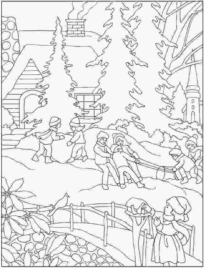 snowflake coloring pages for adults winter coloring books pinterest winter coloring
