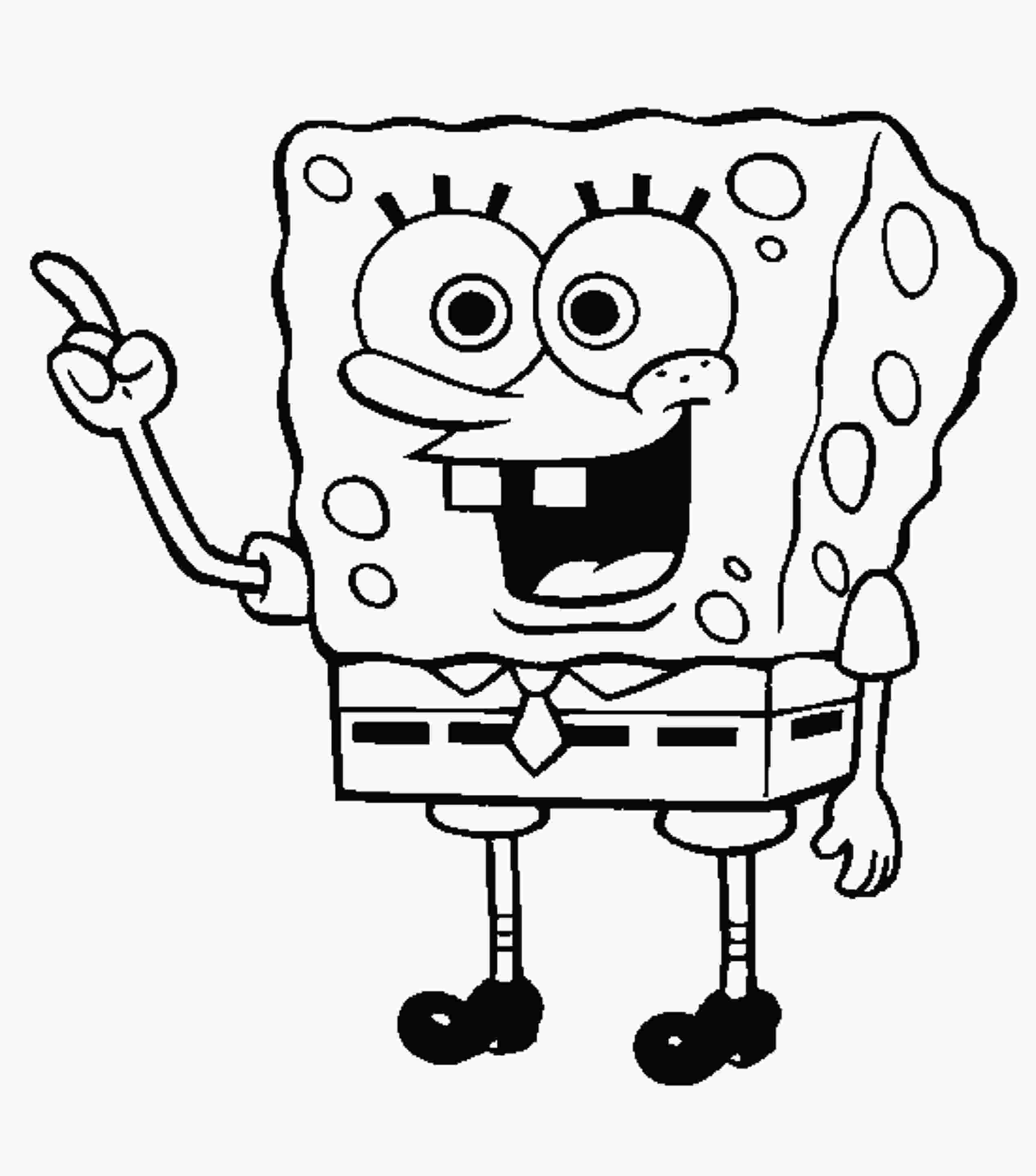 spongebob coloring kids cartoons in black and white yahoo image search