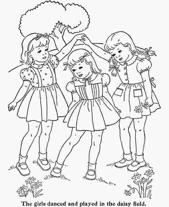 three girls coloring page 25 unique coloring pages for girls ideas on pinterest