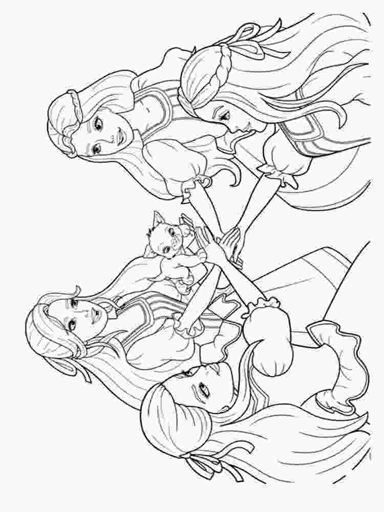 three girls coloring page barbie and the three musketeers coloring pages free 2