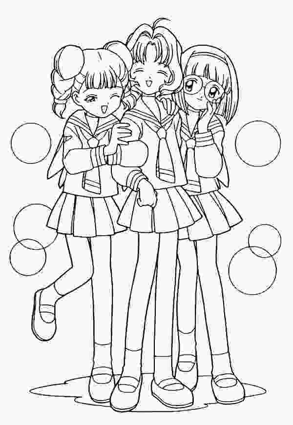 three girls coloring page best friend coloring pages to download and print for free