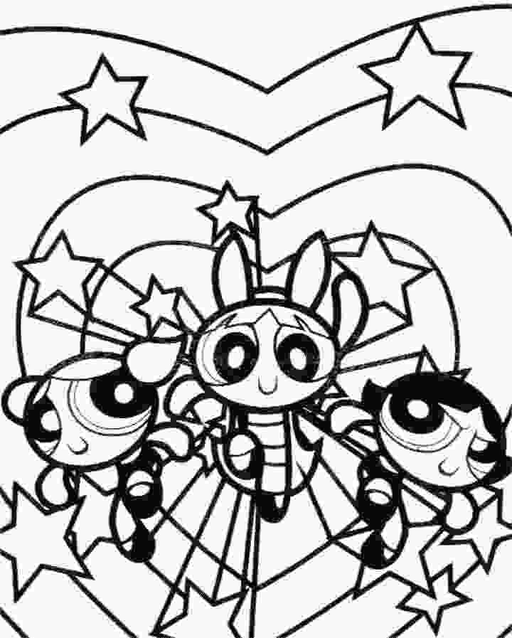 three girls coloring page coloring pages of the power puff girls the three girls