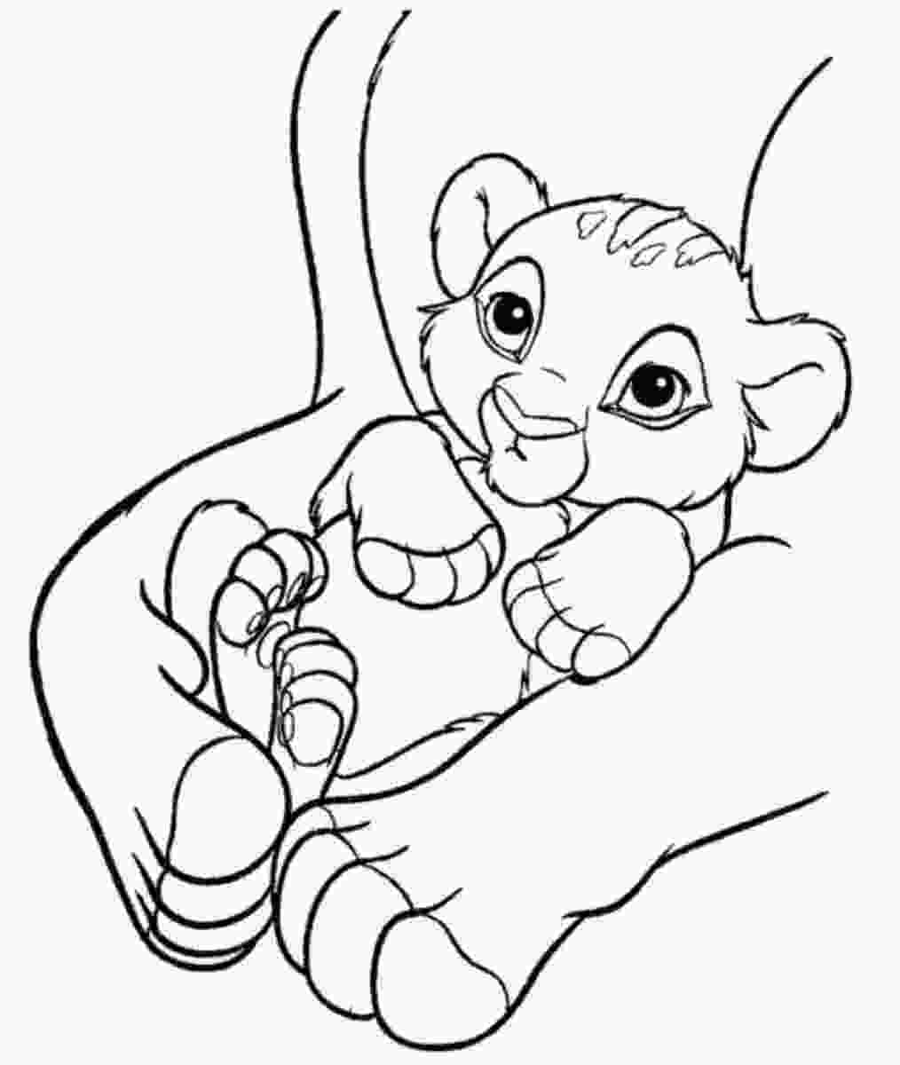 baby nala coloring pages free printable simba coloring pages for kids