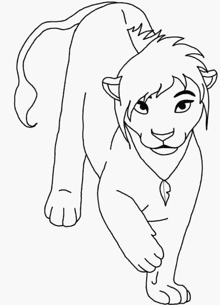 baby nala coloring pages lion king coloring pages nala at getcoloringscom free