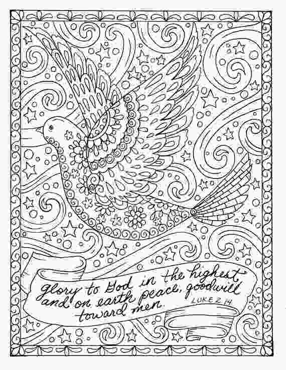 christian christmas coloring sheets christmas coloring page dove christian scripture adult digi