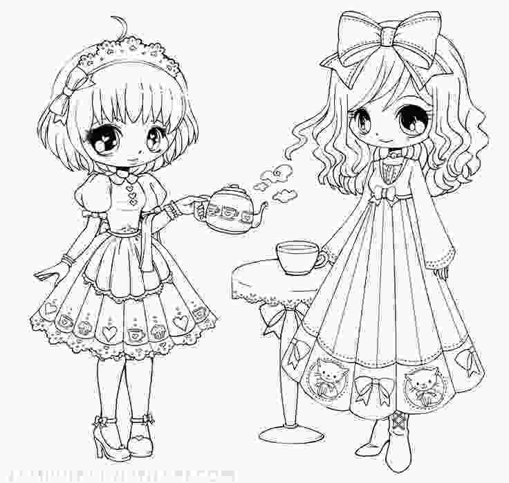 coloring chibi girl 141 best images about yampuff on pinterest