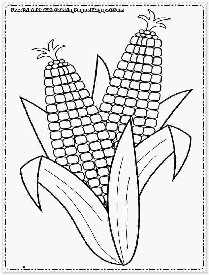 coloring outline corn clipart corn coloring pages to download and print for free