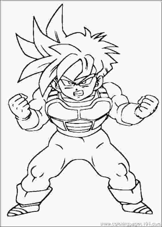 dragon ball z printable pictures dragon ball z coloring free printable coloring page