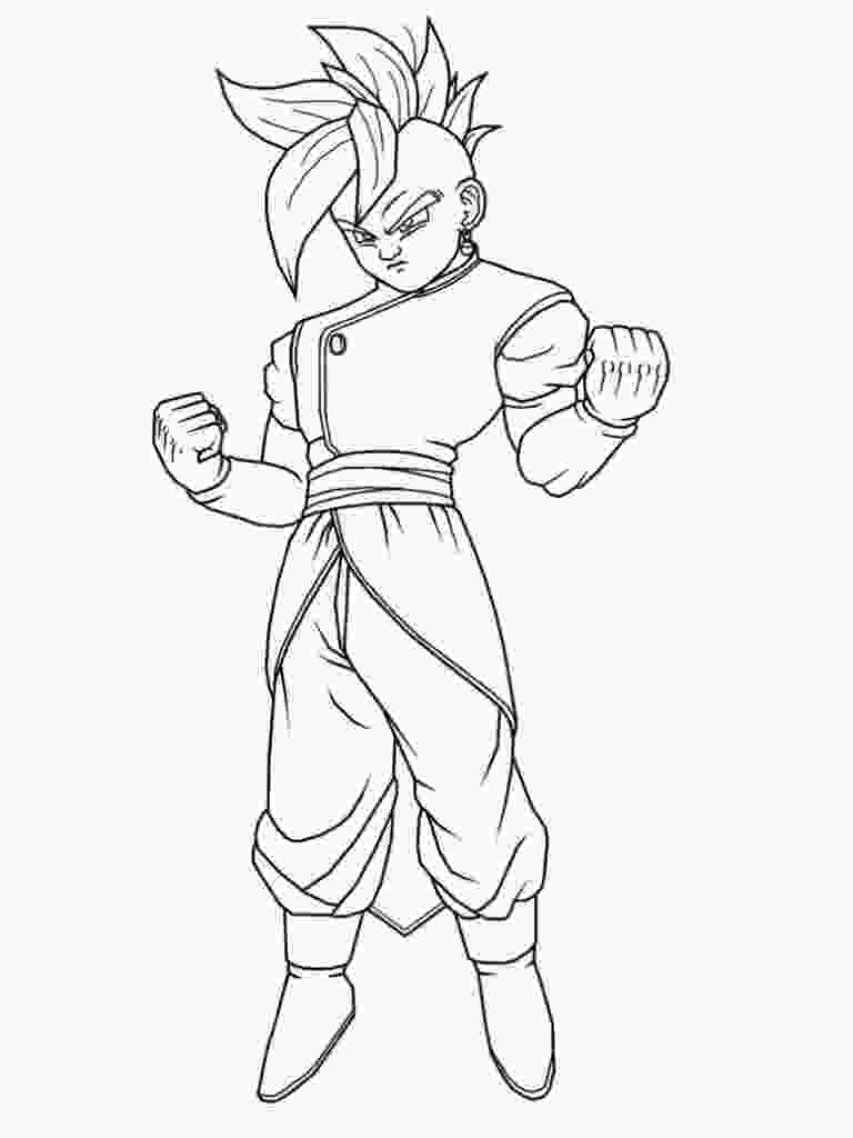dragon ball z printable pictures free printable dragon ball z coloring pages for kids 1