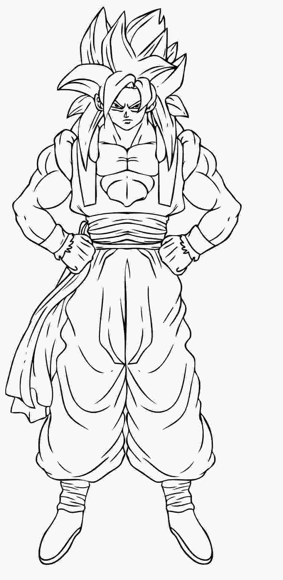 dragon ball z printable pictures free printable dragon ball z coloring pages for kids 3