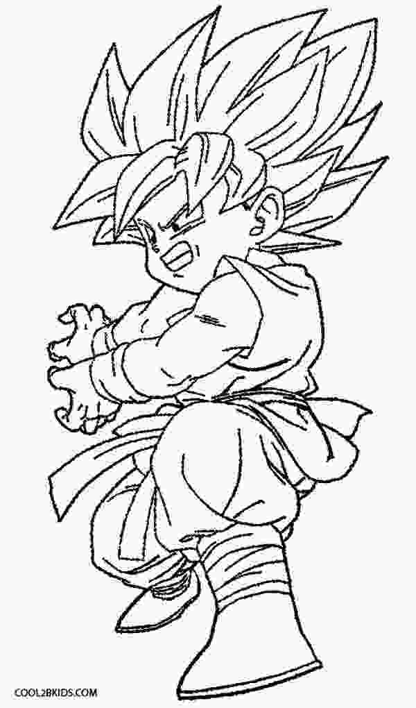 dragon ball z printable pictures printable goku coloring pages for kids cool2bkids 1