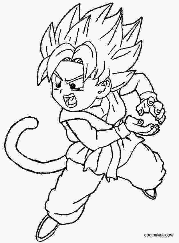 dragon ball z printable pictures printable goku coloring pages for kids cool2bkids 3