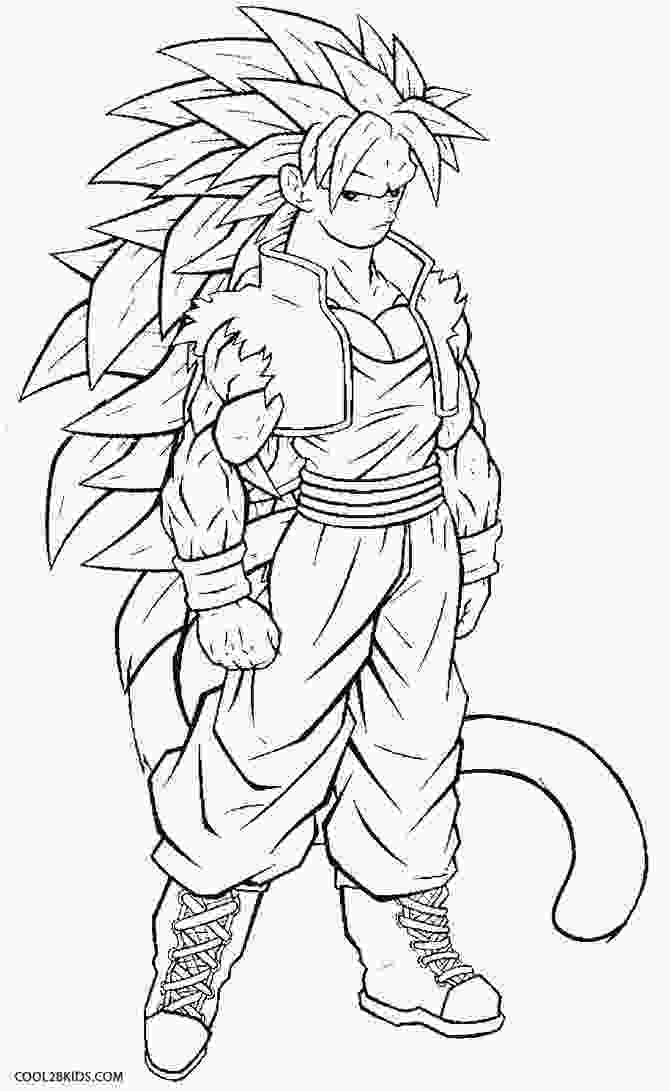 dragon ball z printable pictures printable goku coloring pages for kids cool2bkids