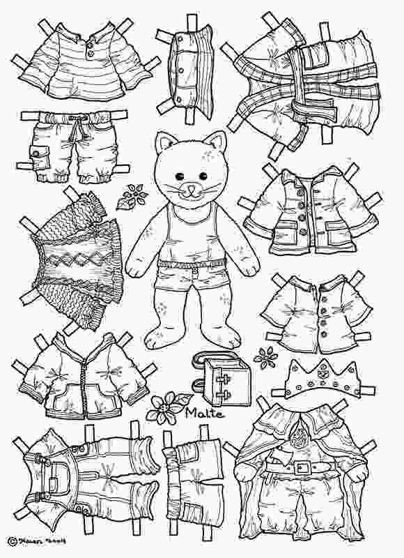 dress up paper dolls printable cat paper doll coloring page coloring pages paper