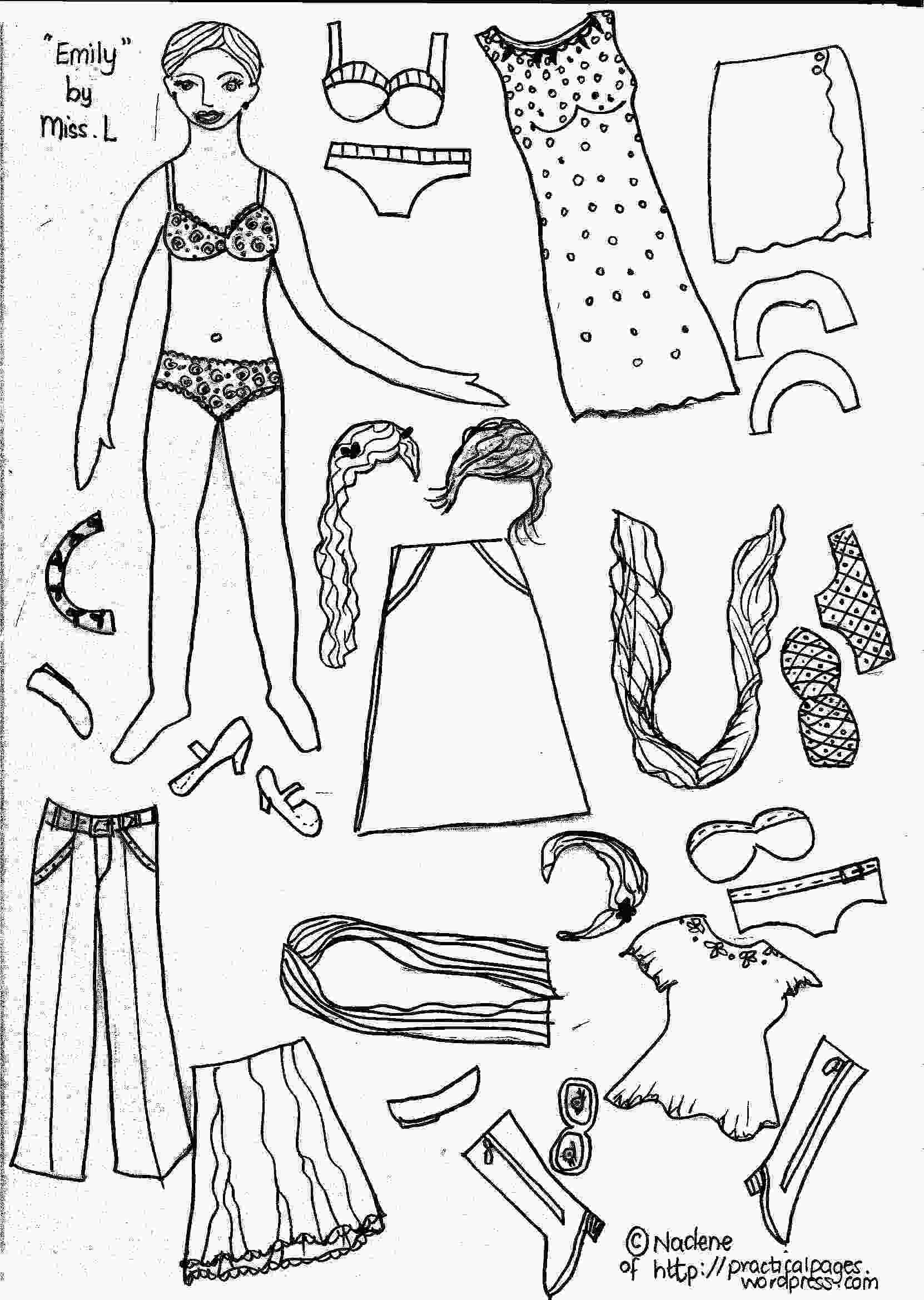 dress up paper dolls printable paper dolls practical pages