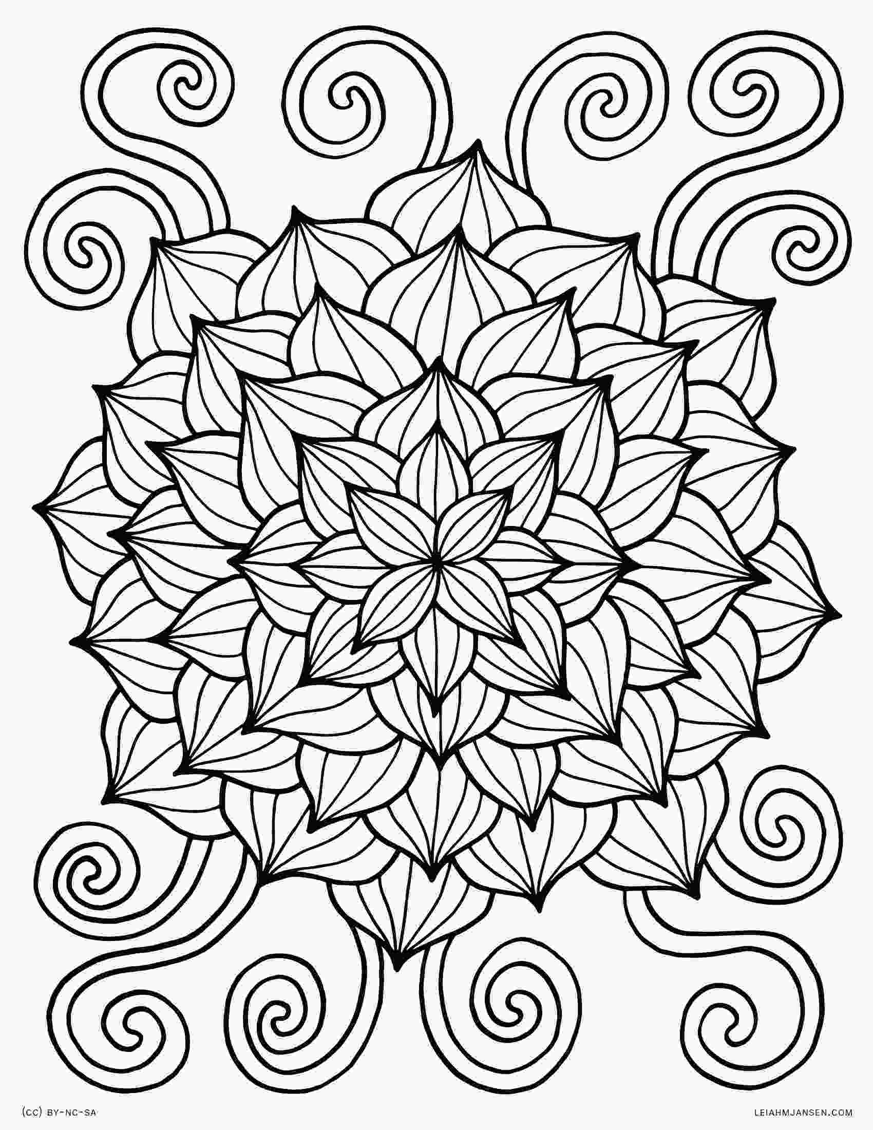flower color page coloring pages