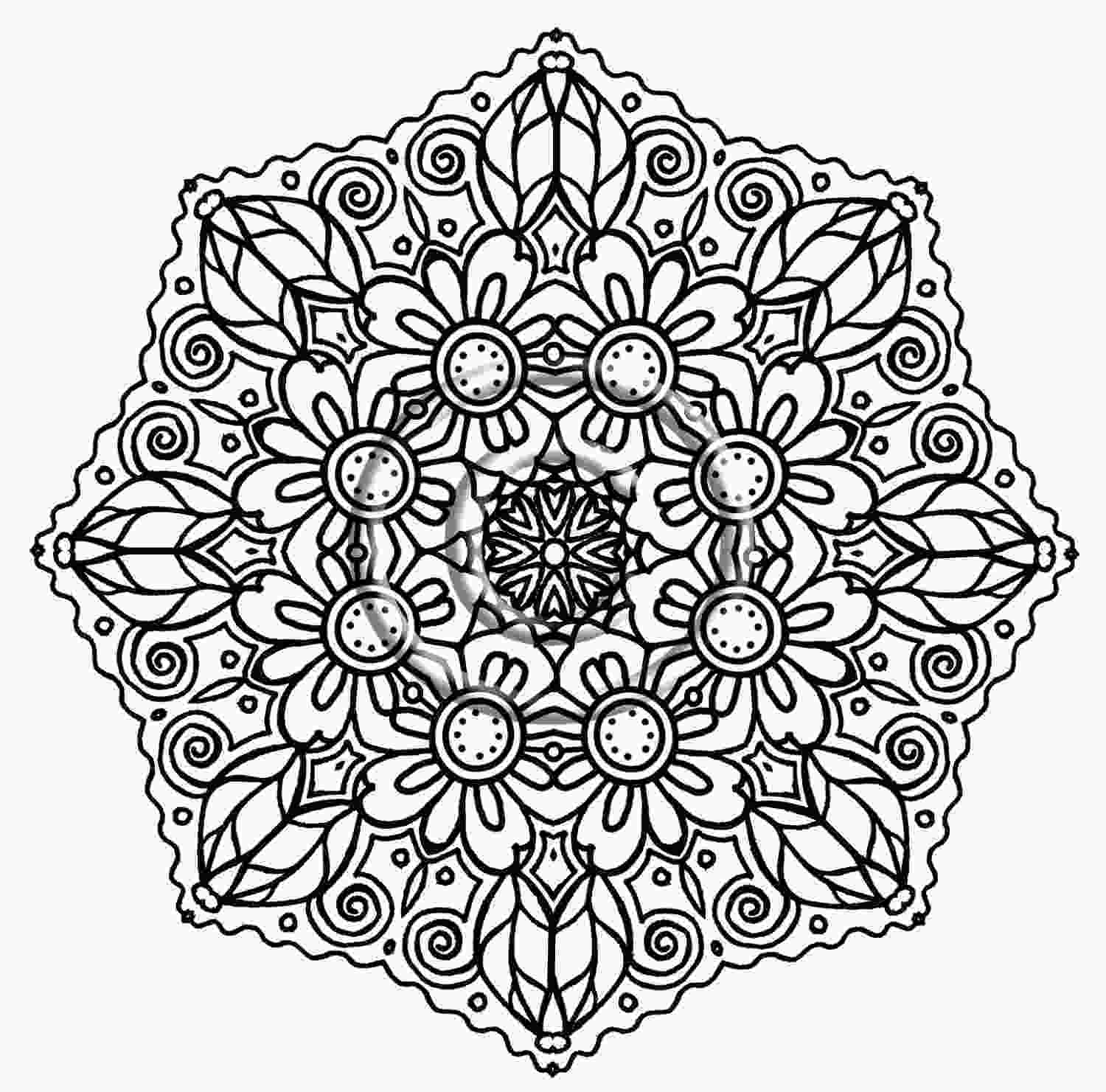 flower color page detailed flower coloring pages to download and print for free