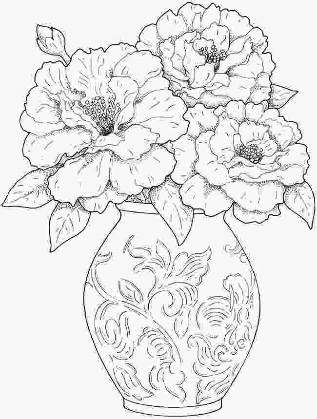 flower color page flower coloring pages for adults best coloring pages for