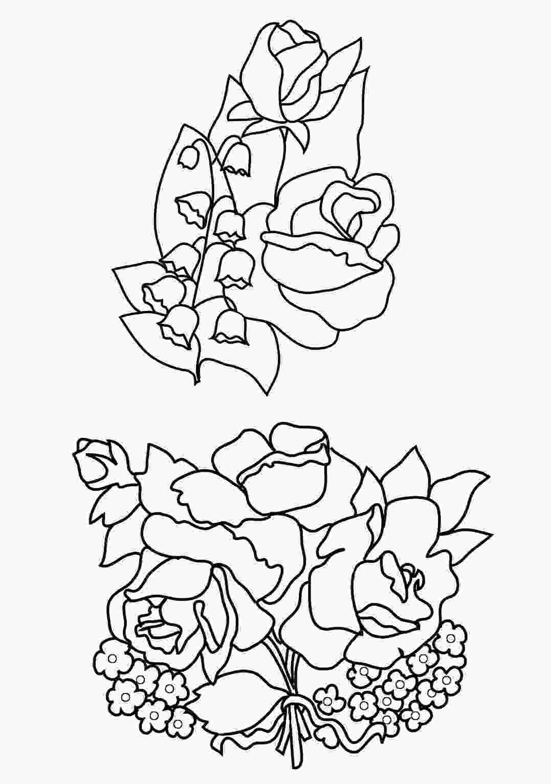 flower color page flower coloring pages