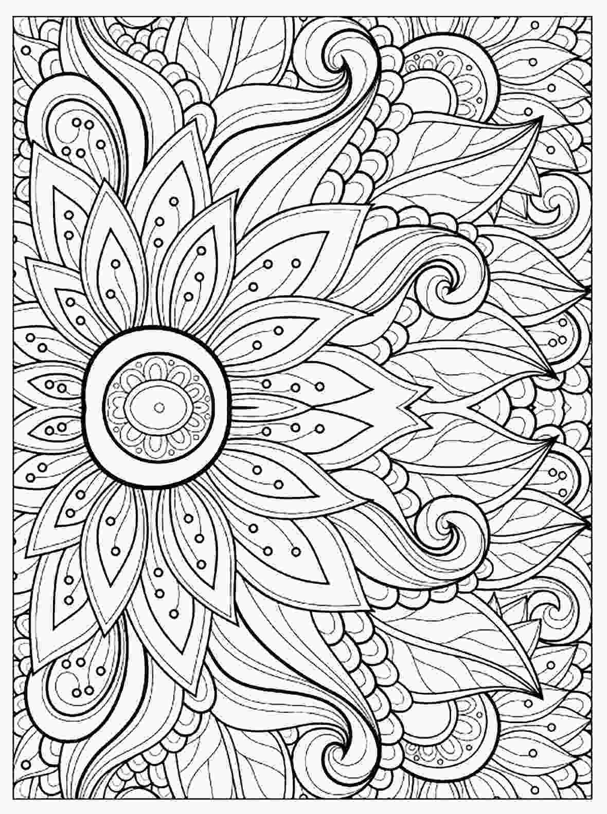 flower color page flower with many petals flowers adult coloring pages