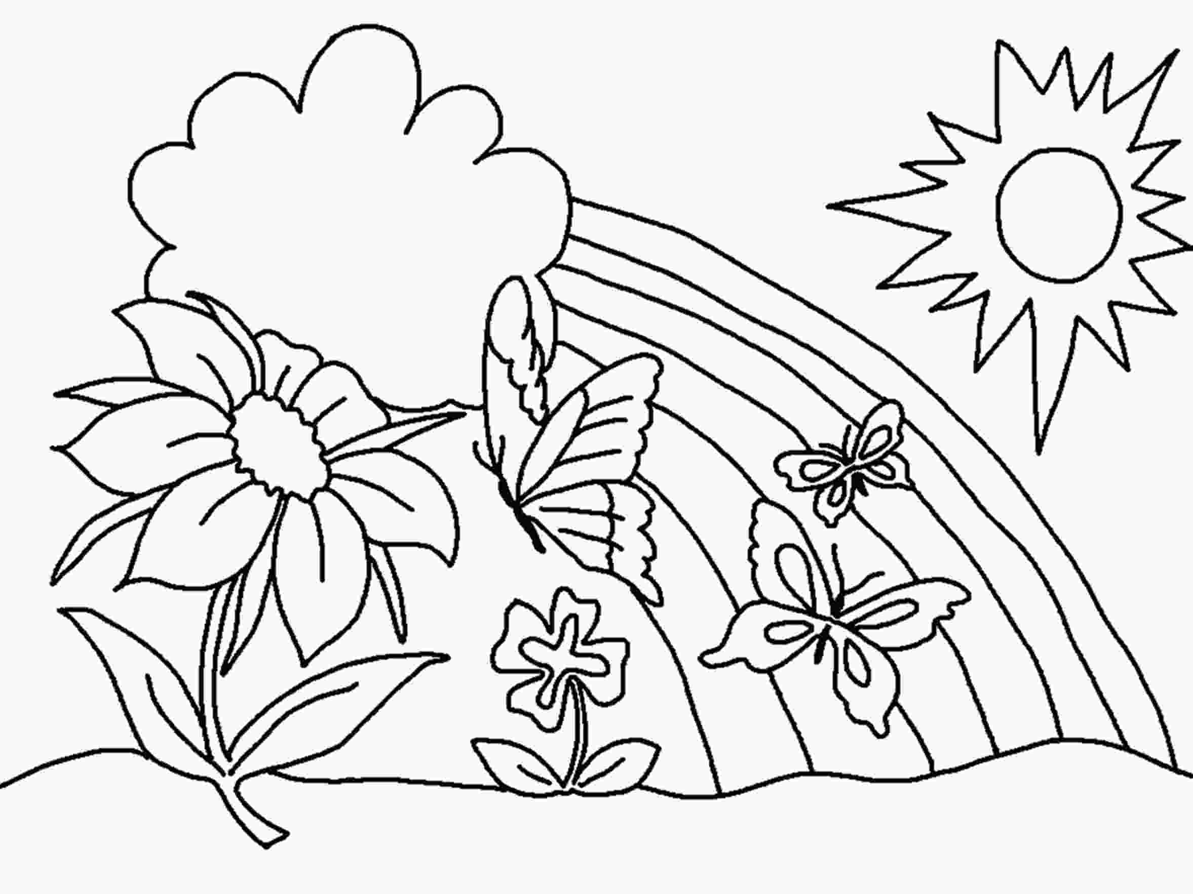 flower color page free printable flower coloring pages for kids best 1