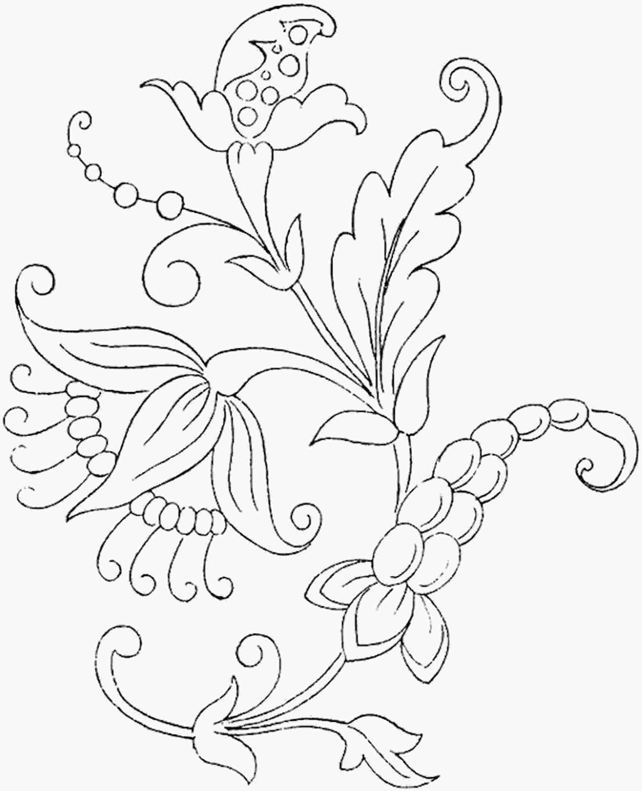 flower color page free printable flower coloring pages for kids best 7