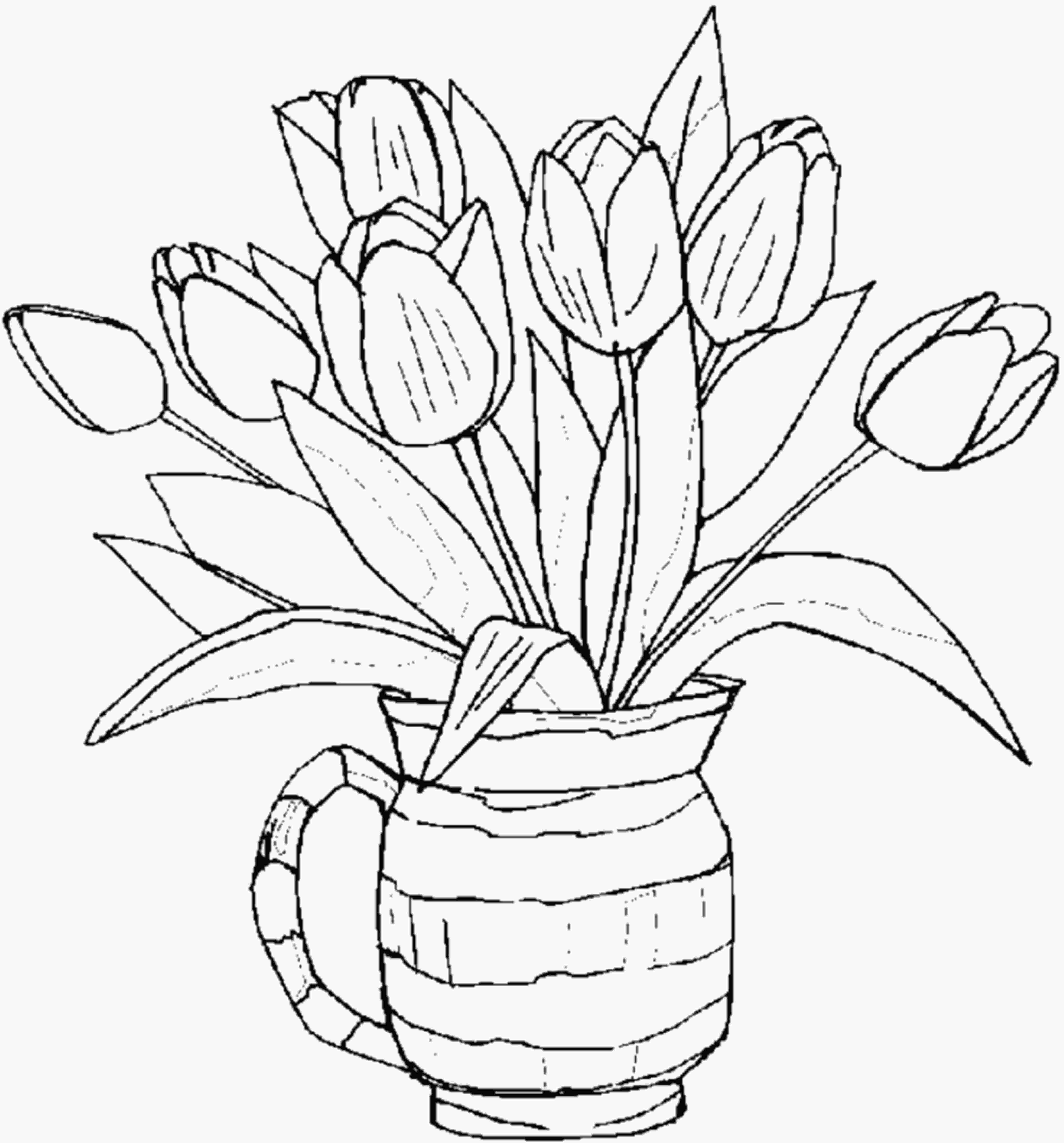 flower color page free printable flower coloring pages for kids best 8