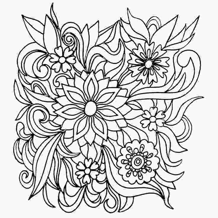 flower nature coloring pages colors of nature adult colouring book flowers cool
