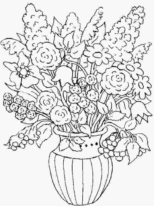 flower nature coloring pages flower in the vase of nature coloring page color luna