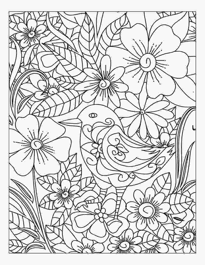 flower nature coloring pages link coloring adult coloring books stress relief flower