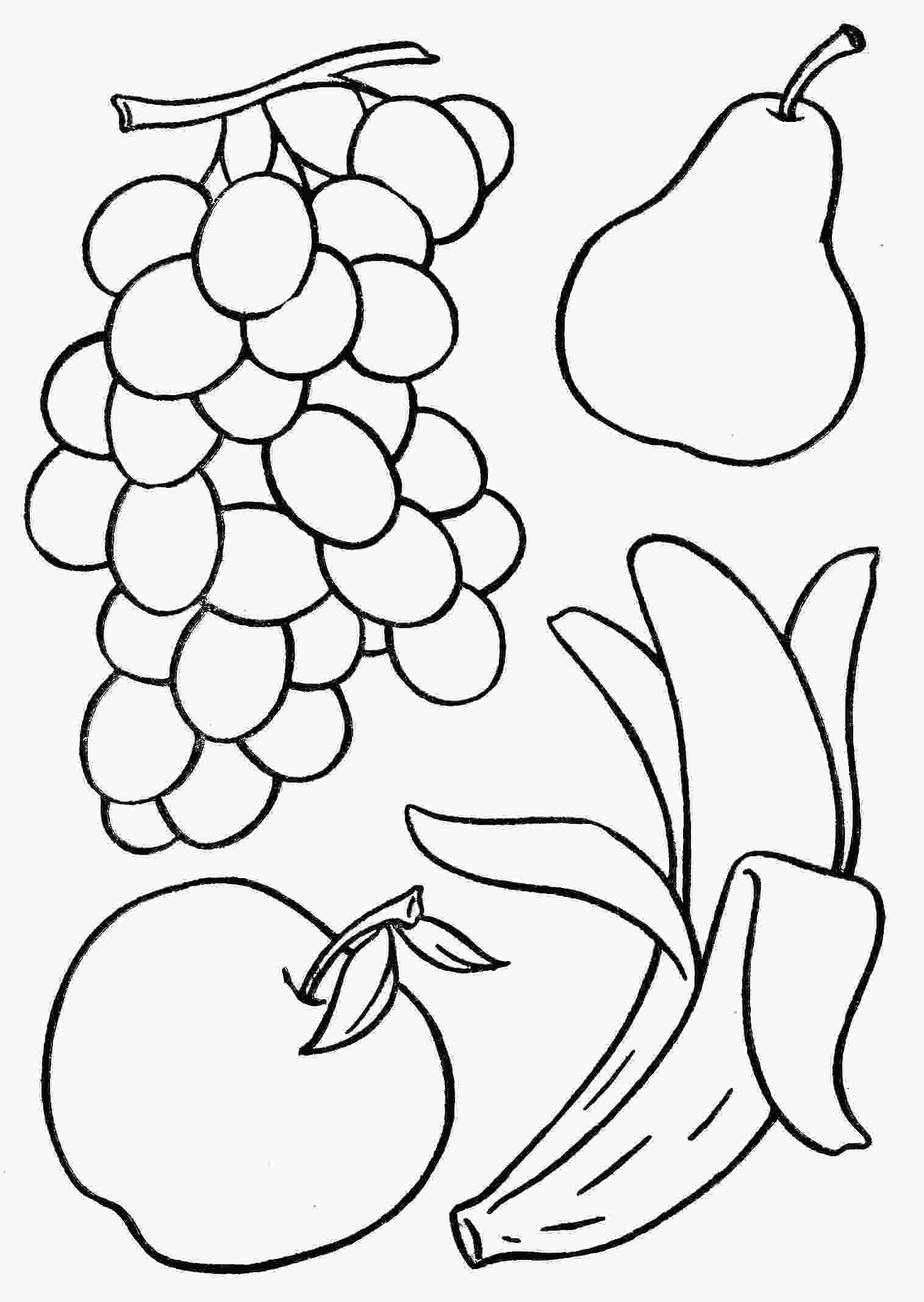 fruit coloring pages basketful to color for toddlers activities artcraft