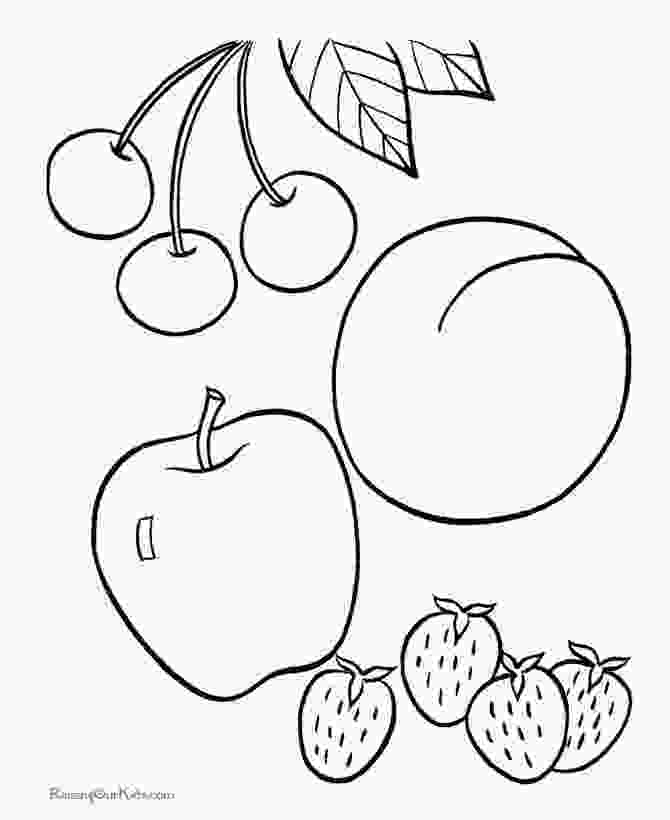fruit coloring pages fruit picture to print and color educational coloring