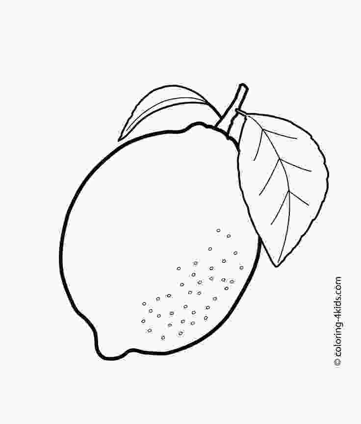 fruit coloring pages lemon coloring pages download and print for free