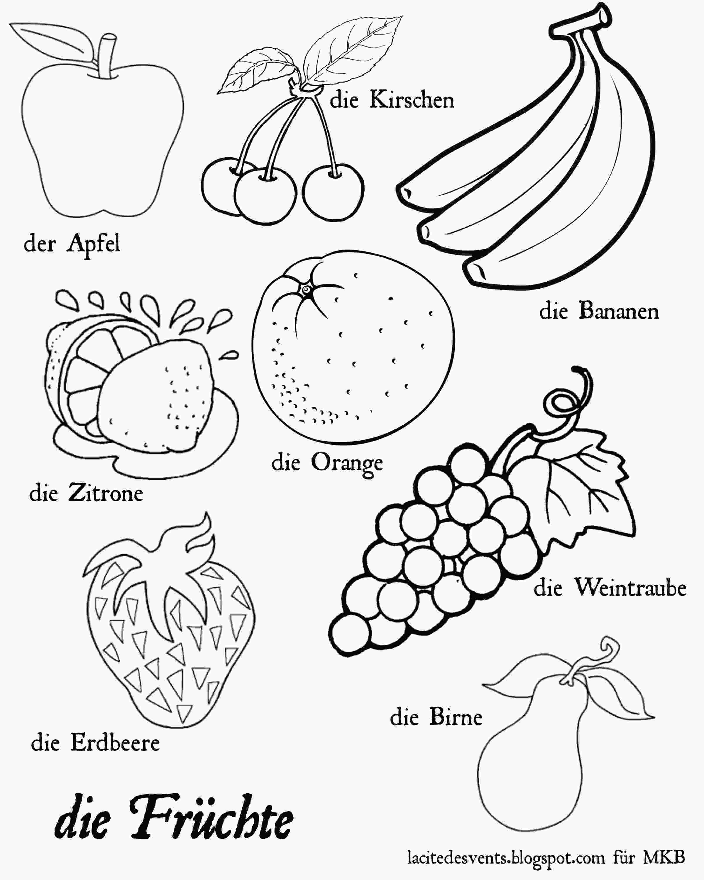 fruit coloring pages multilingual printables fruits and vegetables in 7 languages