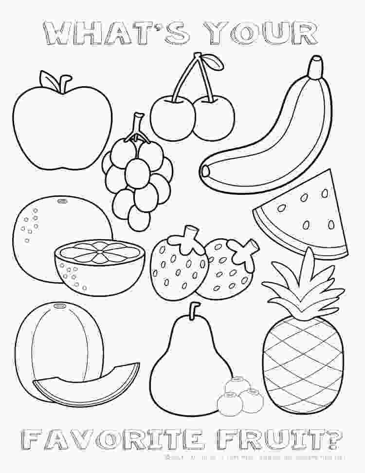 fruit coloring pages printable healthy eating chart amp coloring pages