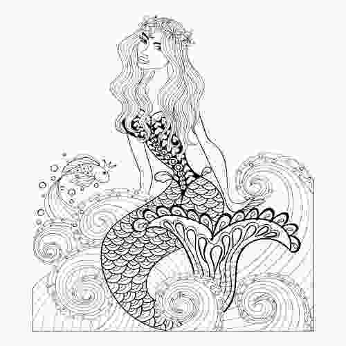 hard advanced mermaid coloring pages 67 best images about advanced fantasy coloring pages on