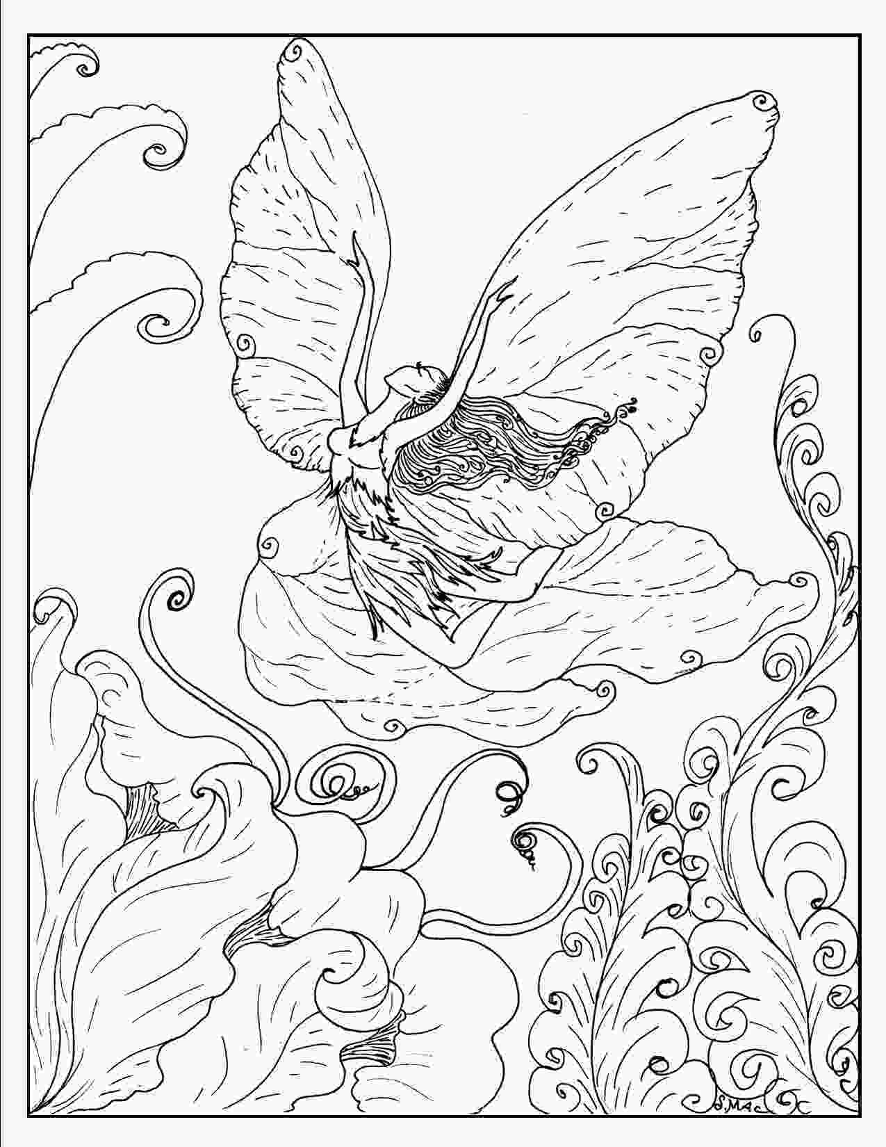 hard advanced mermaid coloring pages free printable fantasy coloring pages for kids best
