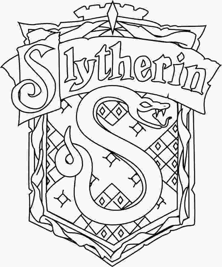 harry potter house coloring pages for gt harry potter slytherin coloring pages az coloring